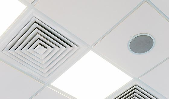 Air Vent in Office Ceiling after Commercial air duct cleaning in Jackson MS